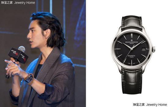 陈坤在影视剧《脱身》宣传活动上佩戴Baume & Mercier名士Baumatic™腕表