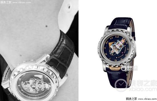 毛不易佩戴雅典奇想系列020-88腕表类似款