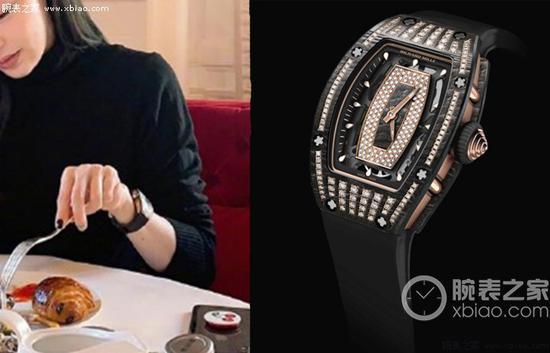 王心凌佩戴里查德米尔女士系列RM07-01 NTPT腕表