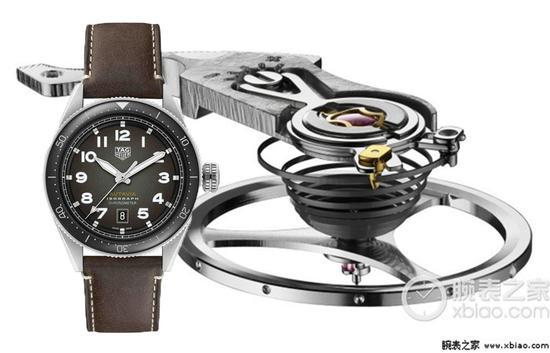 泰格豪雅Autavia系列WBE5110.EB0173腕表机芯所采用的新游丝