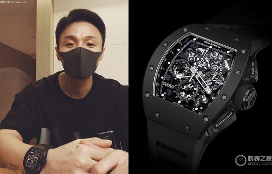 李荣浩佩戴里查德米尔RM 011腕表