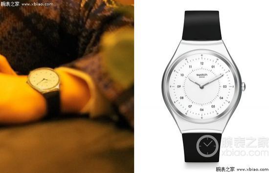 朱一龙佩戴斯沃琪SKINNOIRIRON SYXS100 腕表