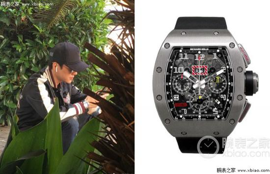 冯绍峰佩戴里查德米尔男士系列 RM 011 FLYBACK CHRONOGRAPH 腕表(类似款)
