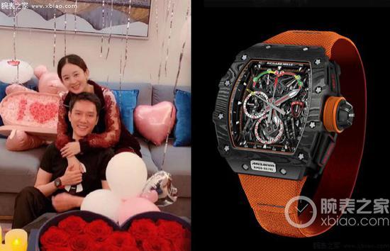 冯绍峰佩戴里查德米尔男士系列 RM 11-03 Mclaren 腕表