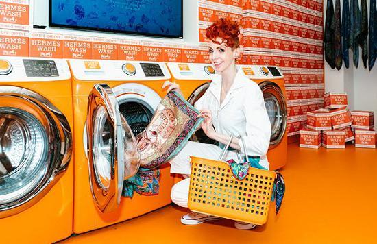 爱马仕曾在纽约开出洗衣房快闪店 图片来源:Donald Stahl