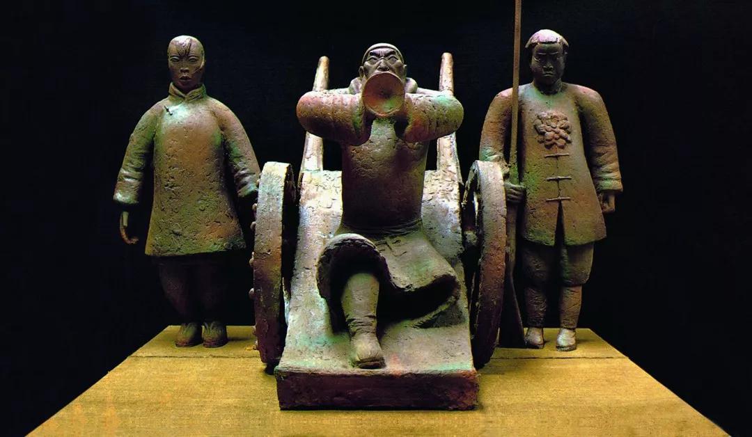 仇娃参军 / 杨奇瑞 / 135 ×160 ×150 cm / 铜 / 1990