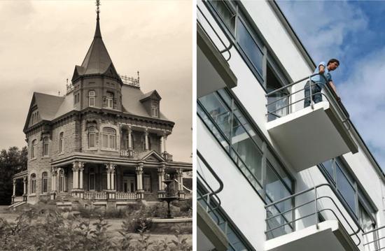 ▲左:维多利亚时期建筑右:包豪斯建筑