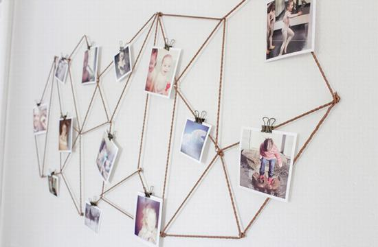 Diy照片墙 图片来源自thecaldwellproject.com