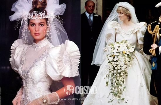 Cindy Crawford;右:Princess Diana