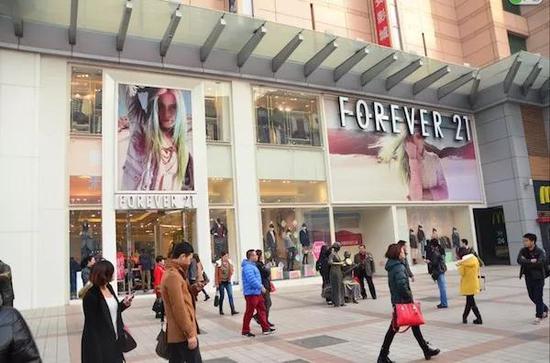 Forever 21在北京王府井步行街的店铺