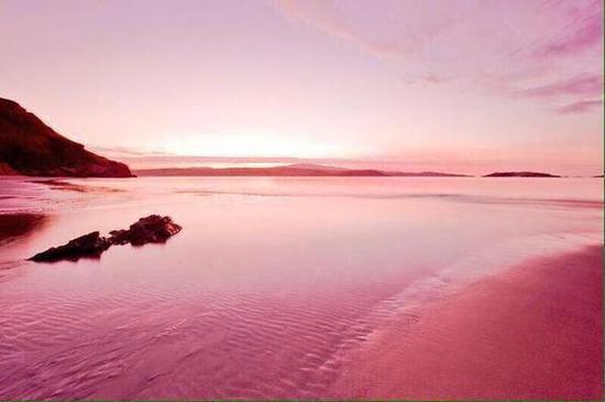 巴哈马粉红海滩 图片来源自Pinterest@ Quanto tempo é para