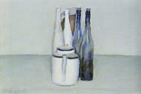 莫兰迪的画作 图片源自aviewto.blogspot。 com