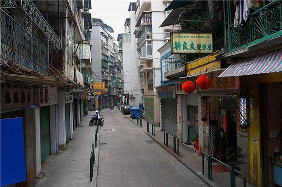 澳门老城区街景