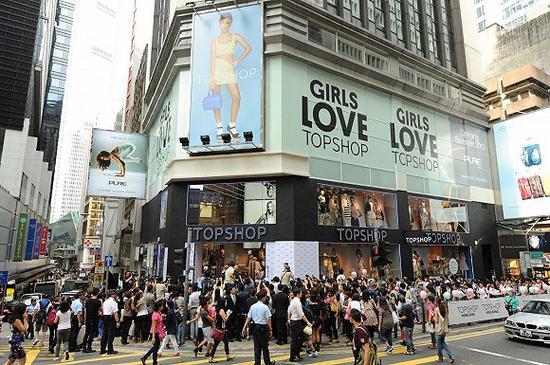 Topshop在香港开设的首家店铺 图片来源:I Speak Fashion