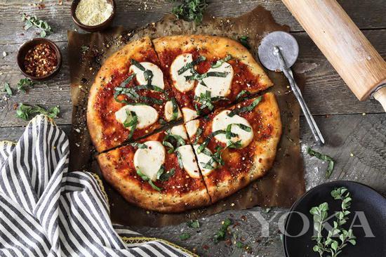 全素蔬菜披萨DIY步骤1 图片来自pinester