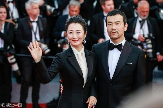 入围作品《江湖儿女》主演赵涛和廖凡