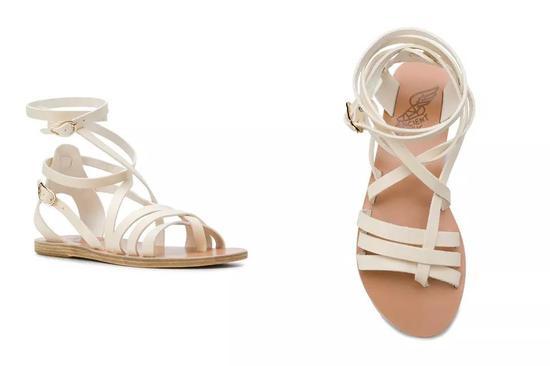 ANCIENT GREEK SANDALS 多带式平底牛皮凉鞋 ¥1,658