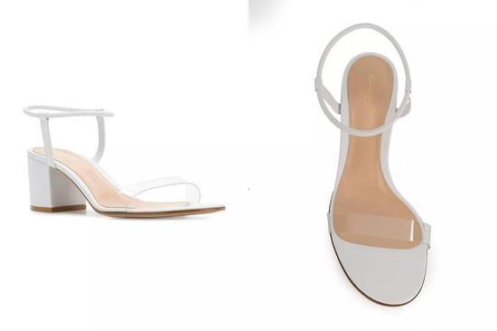 GIANVITO ROSSI 透明环带牛皮凉鞋 ¥5,367