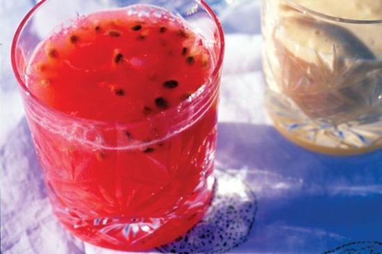 西瓜百香果汁 圖片來自VegKitchen