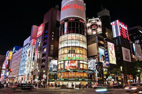 东京银座 图片来源:Wikivoyage