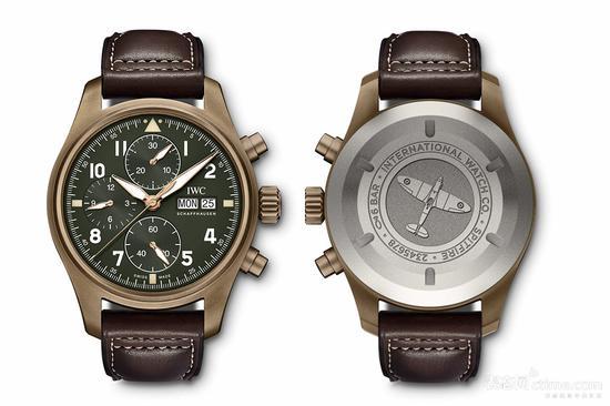 万国喷火战机飞行员计时腕表