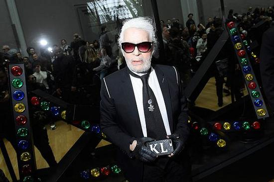 Karl Lagerfeld在Dior 2019秋冬男装秀上 图片来源:Getty Images
