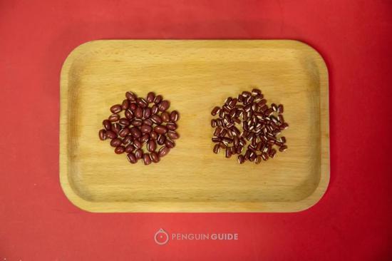左:红豆  右:赤小豆