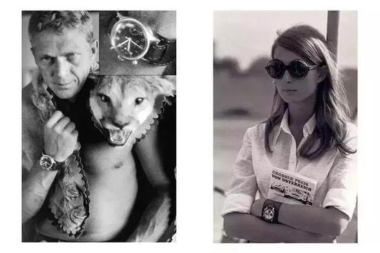 好莱坞巨星史蒂夫麦昆和著名车手乔治林特之妻Nina Rindt佩戴bund