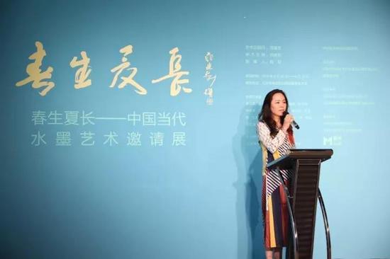 中央美术学院教授、艺术资讯网主编、参展艺术家代表章燕紫女士开幕式致辞