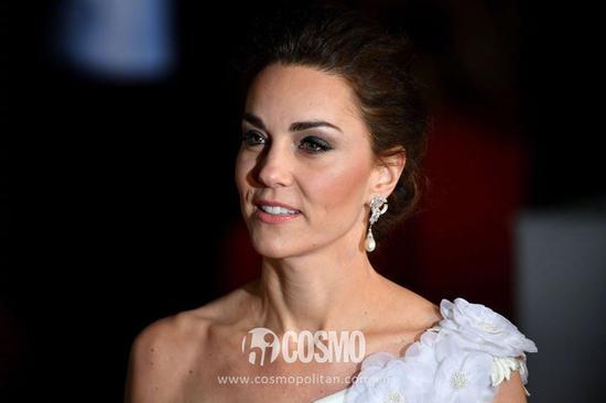 英国电影学院奖颁奖礼上,凯特王妃佩戴戴安娜王妃戴过的耳环