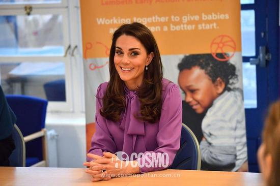 凯特王妃访问亨利福西特儿童中心