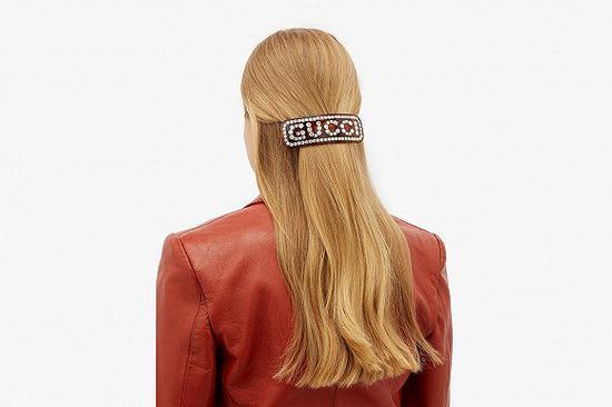复古发饰回潮:Gucci推出全新水晶镶嵌Logo发饰系列发饰Gucci复古