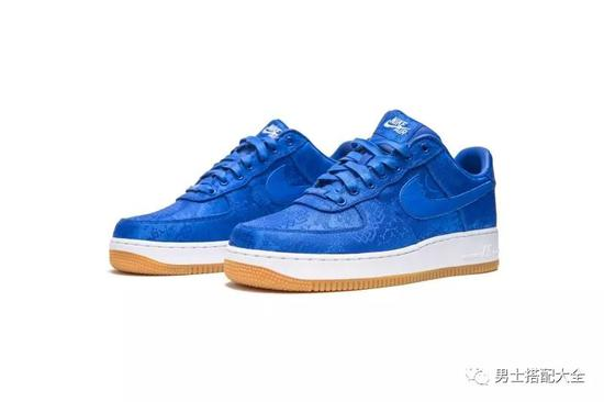 "CLOT x Nike Air Force 1 ""蓝丝绸"""