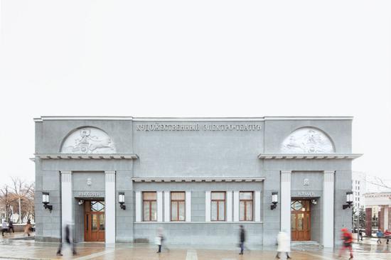 翻新后的艺术电影院的外观恢复了原貌