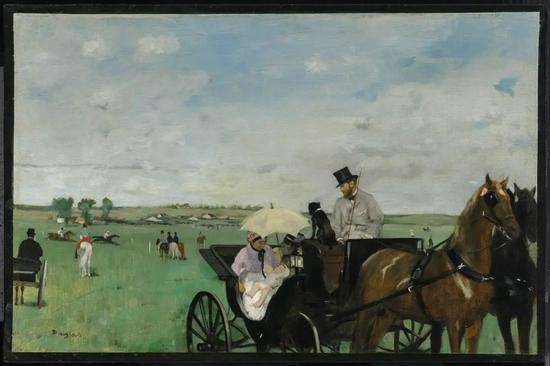德加《乡村的赛马》,At the Races in the Countryside,1869