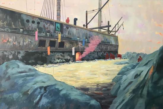 梦境19,120x80cm,布面油画,2018