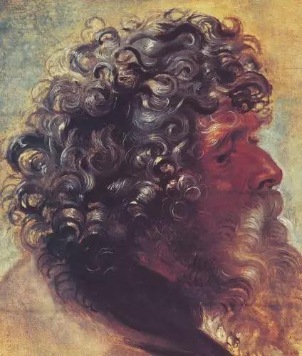 (图三)鲁本斯的头像习作,1997年在伦敦蘇富比上拍