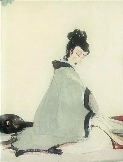 傅抱石《湘君图》(现藏于中国现代文学馆)