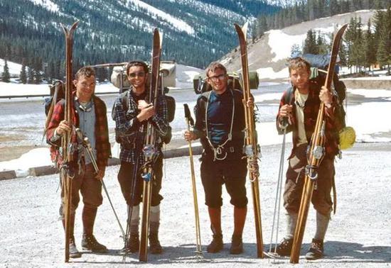 1967年Chic Scott与他的朋友们在班夫探险