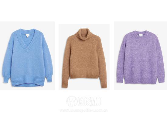 毛衣来自MONKI 售价500元、400元、350元