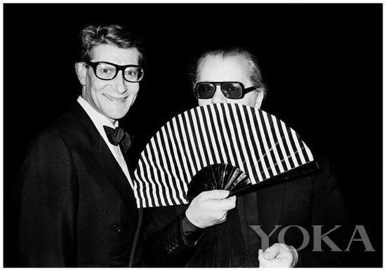 卡尔拉格斐和伊夫圣洛朗这对好友为他反目 图片来自pinester