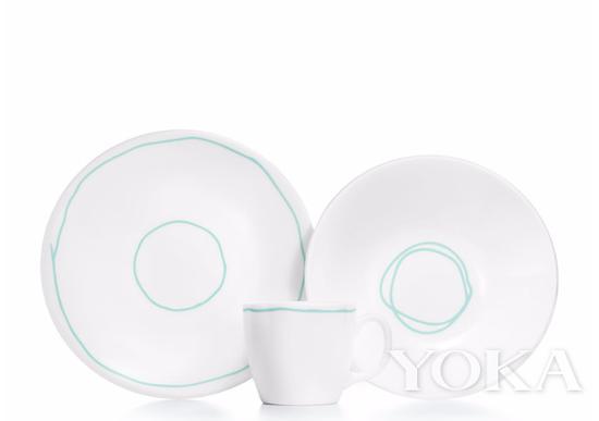 Tiffany 三件套茶具 官网价格1300RMB 图片来自品牌