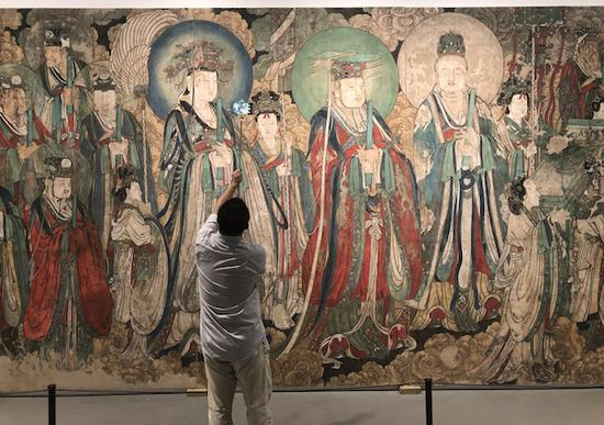 临摹流失海外壁画:有技法传承也见文物修复之道