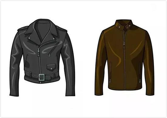 左:Double Rider Jacket、右:Racer Jacket