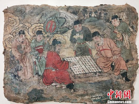 元代壁画《对弈图》