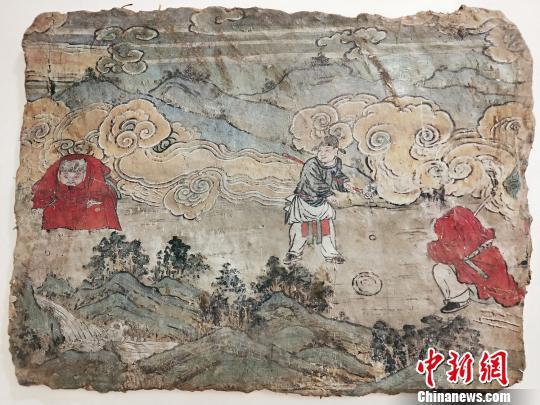 元代壁画《捶丸图画壁》