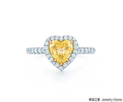 Tiffany&Co.蒂芙尼 TiffanySoleste系列心形切割黄钻戒指 18k金、钻石 售价:RMB 249,000