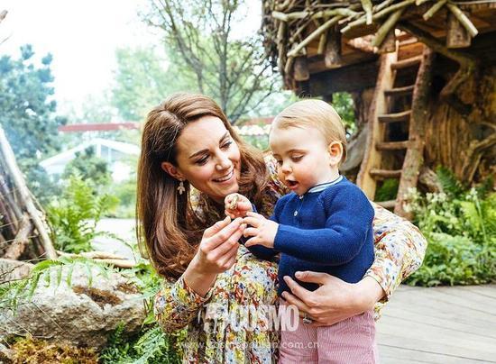 凯特王妃带着三个孩子在2019英国RHS切尔西花展