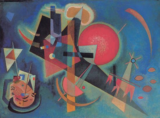 《藍色之中》,1925年,油畫,80厘米×110厘米,杜塞爾多夫:北萊茵-威斯特法倫州藝術收藏館