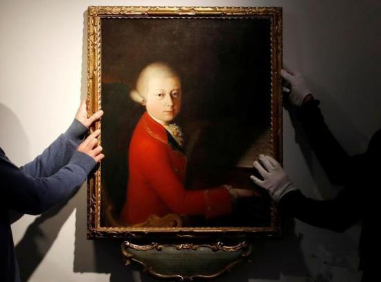 莫扎特13岁时肖像画走上拍卖场
